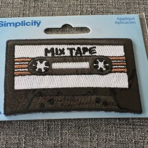 Mix Tape Iron-On Patch Appliqué NEW